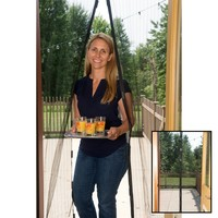 "Evelots Hands Free Magnetic Screen Door,Bug Mesh Screen, 83"" Length X 39"" Wide"