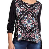 Old Navy Womens Long Sleeved Matte Crepe Tops