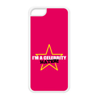 Celebrity Hater White Silicon Rubber Case for iPhone 5C by Chargrilled