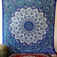 LARGE PSYCHEDELIC tapestry, indian star mandala hippie tapestries wall hanging, cotton bedspread throw boho bohemian bedding, ethnic decor