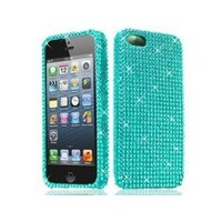 BNM Corporation - Amazon.com: Snap-On Blue Full Diamond Case for Apple iPhone 5 5G: Cell Phones & Accessories