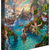 Peter Pan's Never Land – 14″ x 14″ Gallery Wrapped Canvas | The Thomas Kinkade Company
