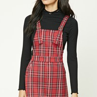 Plaid Overall Dress