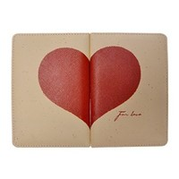 ZLYC Take My Heart Away Travel Passport Cover for Couples Beige