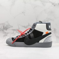 "Off-White x Nike Blazer Mid ""Black White Grey"" Casual Sneaker - Best Deal Online"