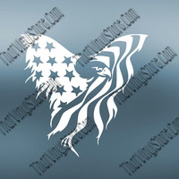 American Flag Eagle | Don't Tread on Me | Second Amendment | Protect Our Rights Decal | 2nd Amendment Vinyl Decal For Car Truck | 400