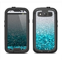 The Turquoise & Silver Glimmer Fade Samsung Galaxy S3 LifeProof Fre Case Skin Set