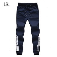 New Fashion Tracksuit Bottoms Mens Casual Pants Cotton Sweatpants Mens Joggers Striped Pants Gyms Clothing Plus Size 5XL