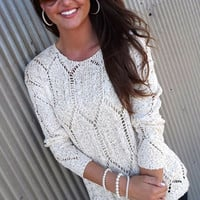 City Street Style Sweater - Ivory | The Rage
