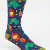 Blue Crown Camp Vibes Mens Crew Socks Blue One Size For Men 27146120001