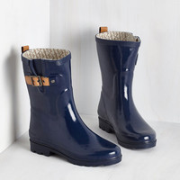 Puddle it Be? Rain Boot in Navy by ModCloth
