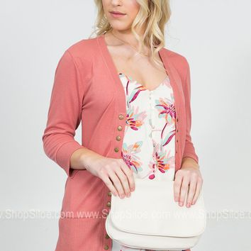Classic Button-Up Cardigan | Pastels