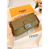 Fendi Baguette Shoulder Messenger Bag khaki