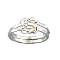 Love Knot Hammered Ring - Sterling Silver