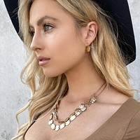 Life's pleasure Gold Layered Necklace Set