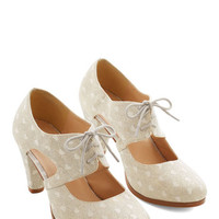 ModCloth Menswear Inspired Sincerely Irresistible Heel in Ivory