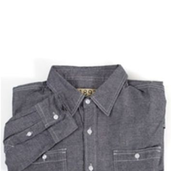 1897 Woven Chambray Button Down Shirt M1Q6148