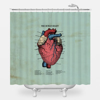 The Human Heart Shower Curtain