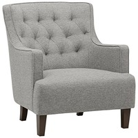 """Stone & Beam Decatur Modern Tufted Accent Chair, 31""""W, Silver"""