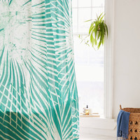 Batik Palm Print Shower Curtain | Urban Outfitters