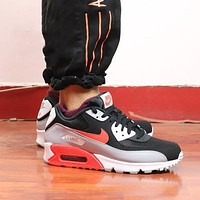 NIKE AIR MAX 90 color-block mesh breathable cushioning running shoes