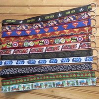 Marvel comics, star wars, wonder woman, batman, super man, star tresck lanyards