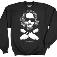 Big Lebowski Dude Bowling Pins Sweatshirt and more fun Movies & Sweatshirts available from OldSchoolTees.com