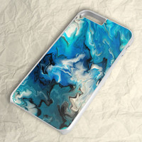 Blue Abstract Watercolor iPhone 6 Plus Case