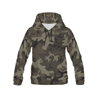Camo Grey All Over Print Hoodie for Men (USA Size) (Model H13) | ID: D2068837