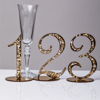 1-10 Wedding Table Number Classic Gold Table Number Gold Table Number Elegant Table Number Stand Table numbers for wedding gold Gold decor