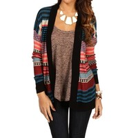 Multi-Color Striped Cardigan