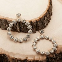 Rhinestone Crystal Encrusted Circle Earrings