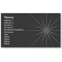 Star - Business Business Card Template from Zazzle.com