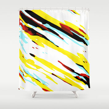 Trippy Panda 8 Shower Curtain by HappyMelvin Graphicus