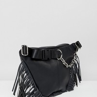Sacred Hawk leather fringe cross body bag at asos.com