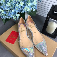 Fasion Christian Louboutin Cl Degrastrass Flats