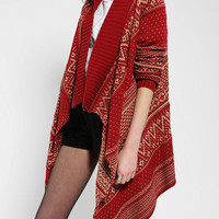Urban Outfitters - Hazel Holiday Intarsia Open-Front Cardigan