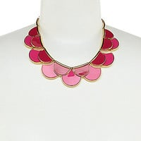 kate spade new york Sweetheart Scallops Necklace - Pink/Multi