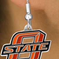 "Oklahoma State ""Cowboys"" Logo Earrings"