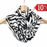 Scarves Zebra Scarf, Jersey Animal Infinity Scarf, Winter Trends, Christmas Gifts Idea, Women Accessories