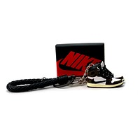 3D Sneaker Keychain- Air Jordan 1 High Travis Scott Pair
