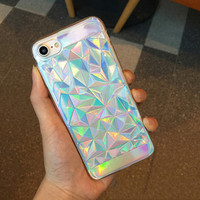 Shapes Hologram Phone Case For iPhone 7 7Plus 6 6s Plus 5 5s SE