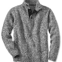 Mock Pullover Sweater / Rag Wool Button Mock Pullover -- Orvis