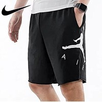 Bunchsun Nike Air Jordan Men Women Casual Sports Running Basketball Shorts Black