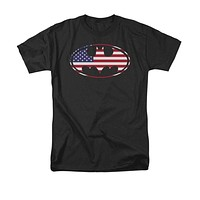 Mens Batman American Flag Tee Shirt
