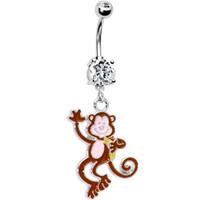Cute Monkey Belly Ring | Body Candy Body Jewelry