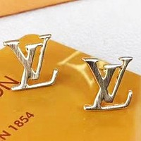 LV Louis Vuitton New fashion letter earring accessories Golden
