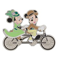 Disney Parks Mickey and Minnie Tandem Bike Pin New with Card