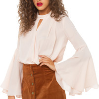 In A Dreamworld Top - Taupe