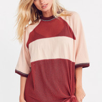 Silence + Noise Rook Mesh Oversized Tee   Urban Outfitters